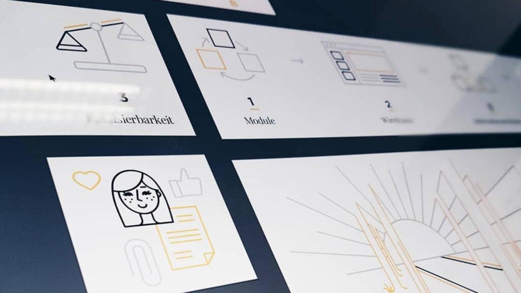 Übersicht von entwickelten Icons