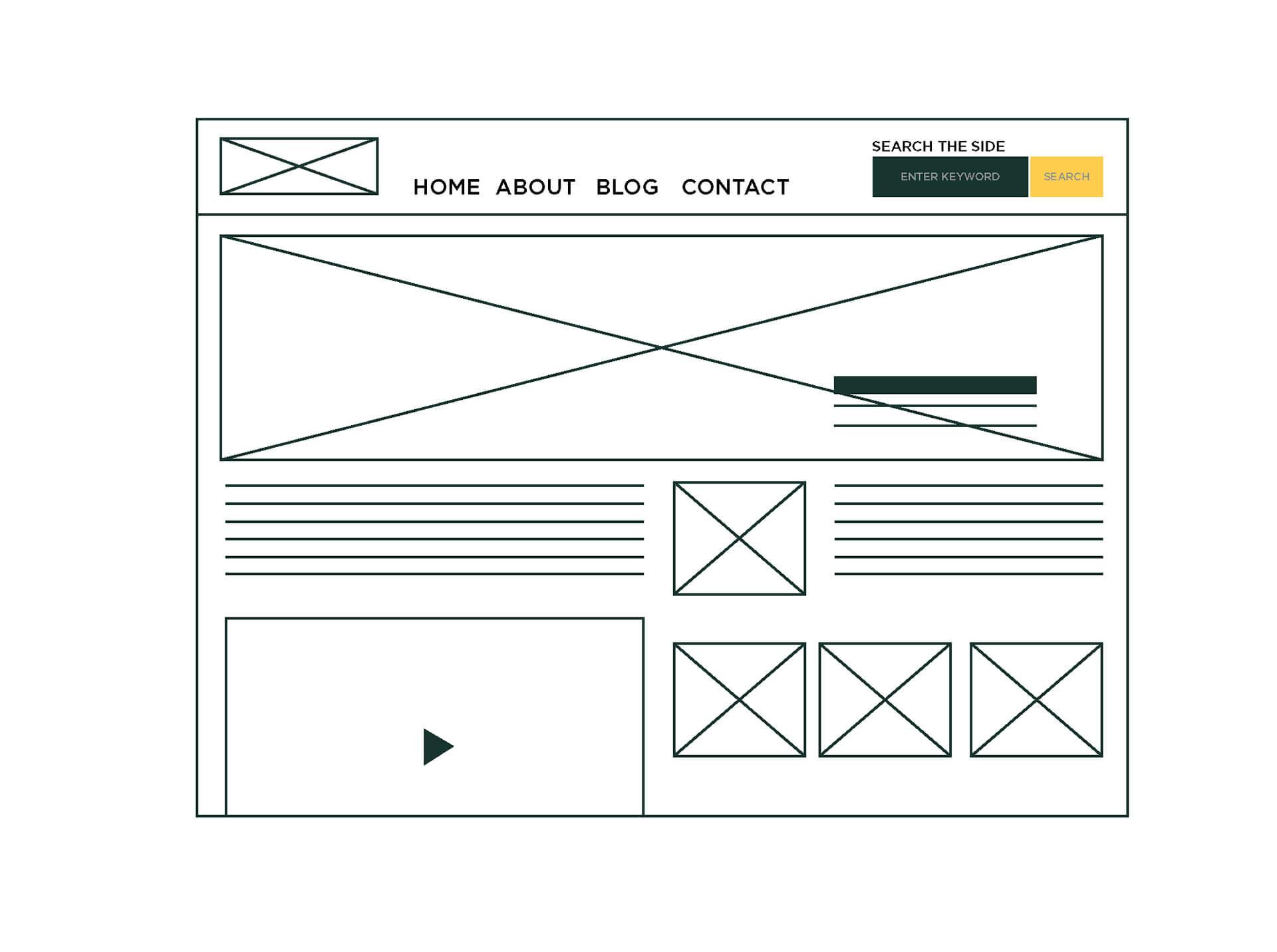 Infografik Wireframe