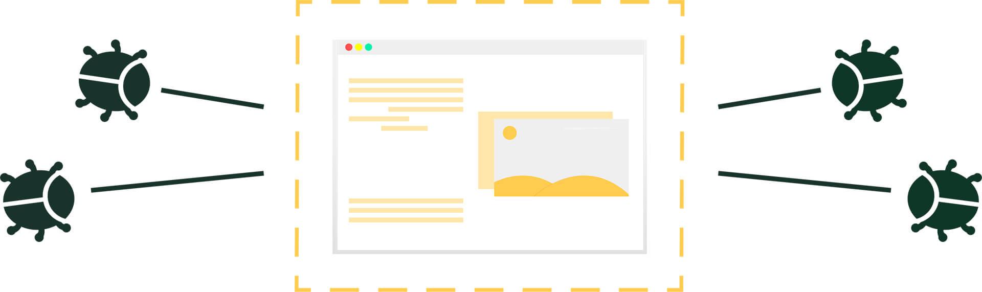 Grafik Sicherheitslücken einer Webseite