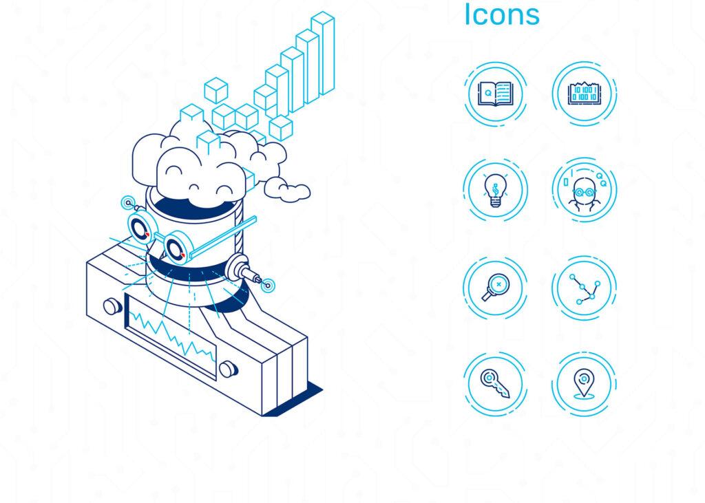 Iconset der VIAl Kreativagnetur für die Humboldt Universität