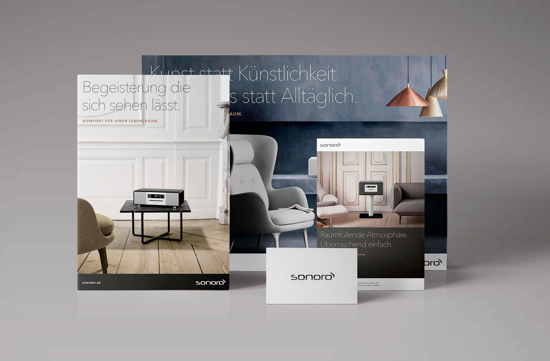 Printprodukte für Sonoro