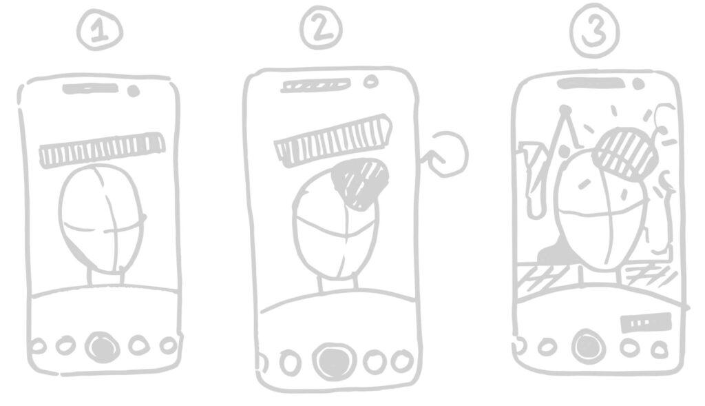 Skizzen des Facefilters