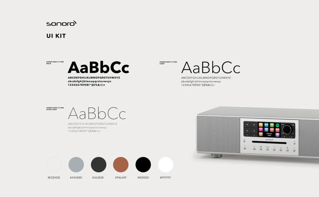 Webcase in dem das Design , die Farben und Schriftarten erklärt werden