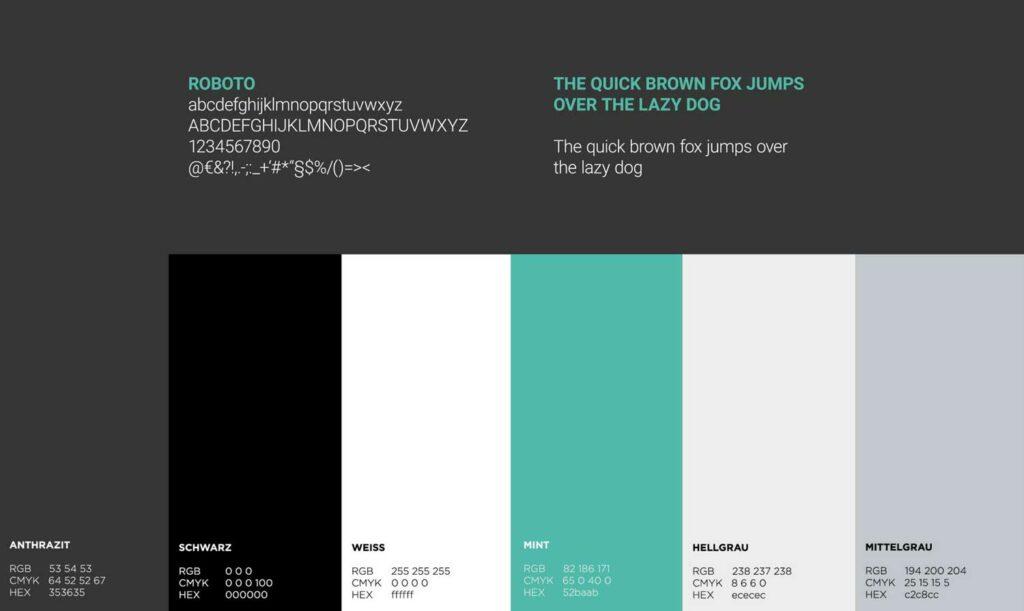 Farbe und Typografie Gordan