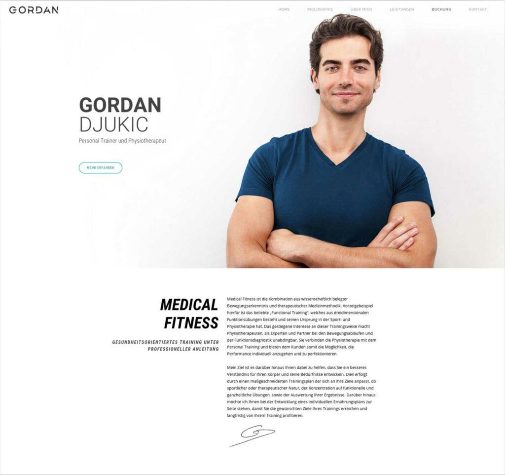 Gordan Website Top