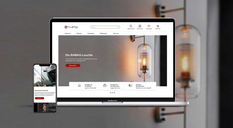 Headerbild mit mobiler und Desktop Ansicht